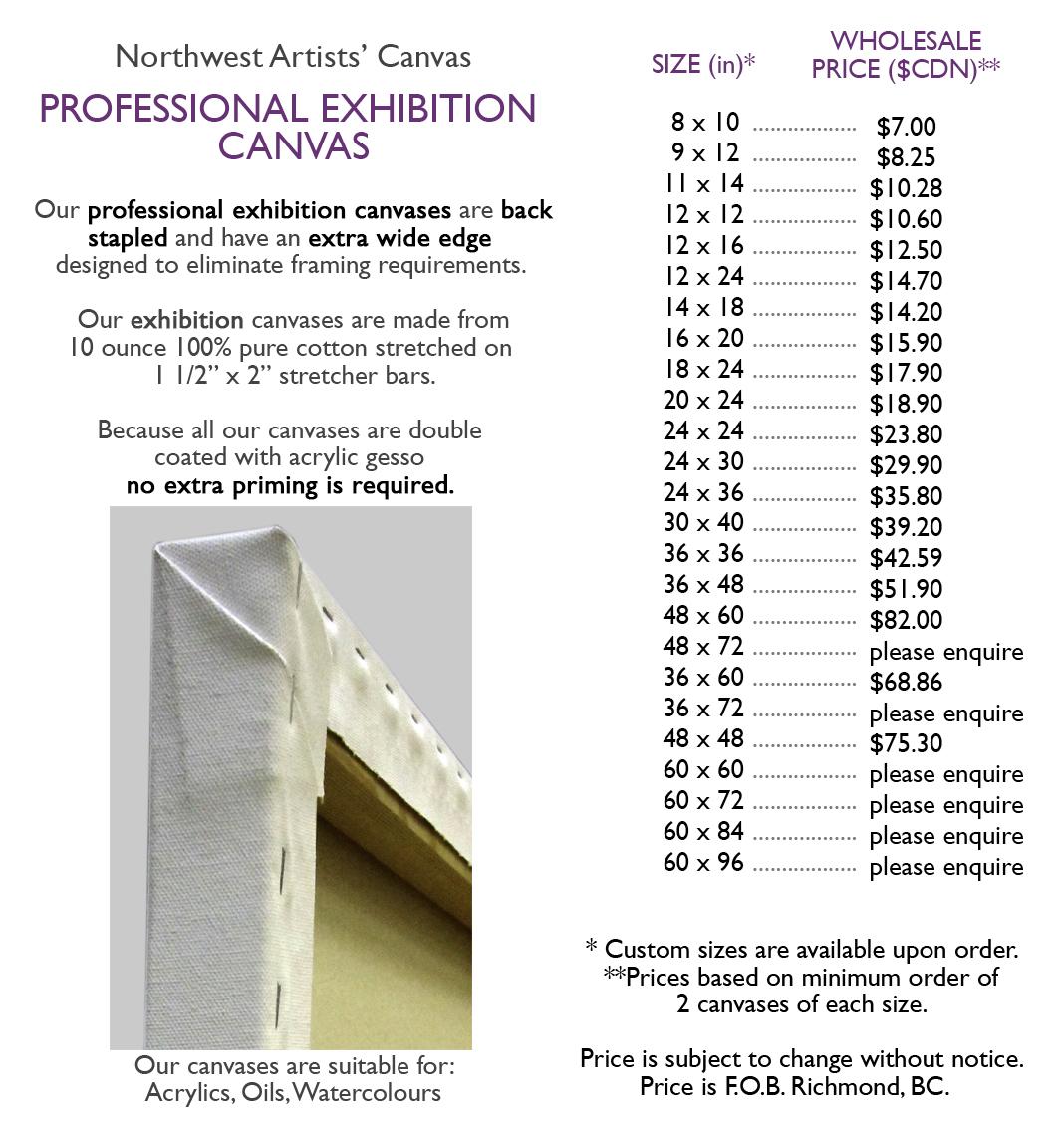 Professional Exhibition Canvas   Northwest Artists' Canvas