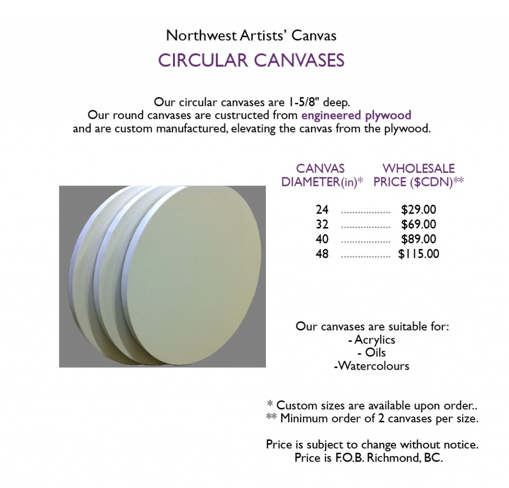 round canvas pricing